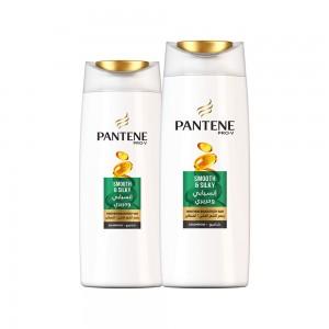 Pantene Smooth&Silky Shampoo, 600+400ml