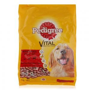 Pedigree Beef and Vegetable Flavors Dry Dog Food - 3 kg