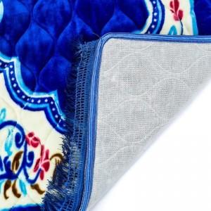 Fabienne Thick Foam Prayer Mat Anti-Slip Flannel Prayer Rug for Gift 80 x 120 cm Royal Blue