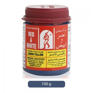 Red & White Lemon Yellow Synthetic Food Color Powder - 100 g