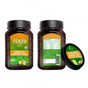 Terzo Organic Green Tea with Organic Lemongrass & Ginger - 110 grams Jar