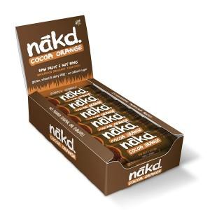 Nakd Cocoa Orange Fruit And Nut Bar, 35 G, Pack Of 18