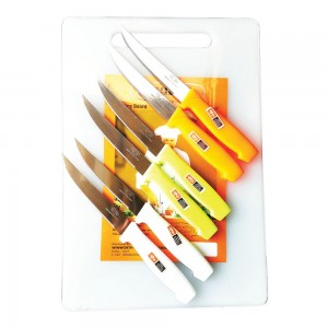Wellberg Cutting Board +6Pc Knife Set