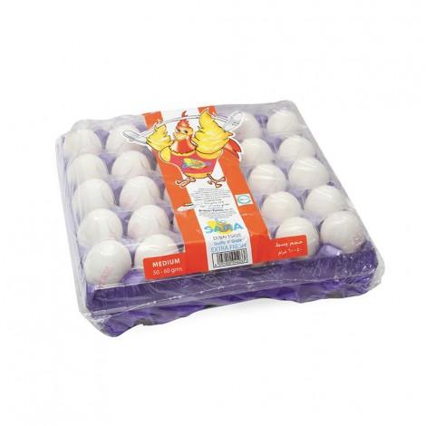 صحة - بيض طازج أبيض وسط 30 قطعة